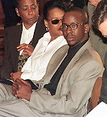 Bobby Brown attends a Capitol Hill press confrence in Washington, D.C. on October 1, 1997, where his wife, Whitney Houston, announced a benefit concert for the Children's Defense Fund to be aired on HBO on Sunday, October 5, 1997..Credit: Ron Sachs / CNP