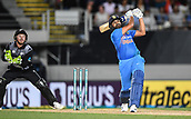 8th February 2019, Eden Park, Auckland, New Zealand;  India's Rohit Sharma. New Zealand v India in the Twenty20 International cricket, 2nd T20.