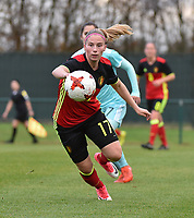 20171123 - TUBIZE , BELGIUM : Belgian Jana Coryn pictured during a friendly game between the women teams of the Belgian Red Flames and Russia at complex Euro 2000 in Tubize , Thursday  23 October 2017 ,  PHOTO Dirk Vuylsteke | Sportpix.Be