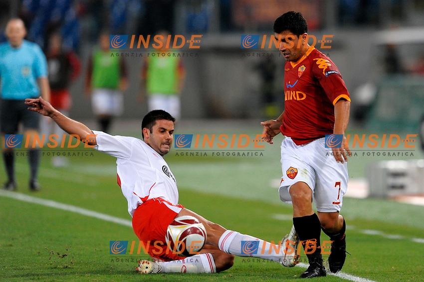 David PIZARRO Roma<br /> Roma 1/10/2009 Stadio &quot;Olimpico&quot;<br /> Roma Cska Sofia 2-0<br /> Europa League 2009/2010<br /> Foto Andrea Staccioli Insidefoto