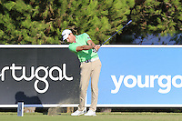 Brett Rumford (AUS) tees off the 8th tee during Thursday's Round 1 of the 2016 Portugal Masters held at the Oceanico Victoria Golf Course, Vilamoura, Algarve, Portugal. 19th October 2016.<br /> Picture: Eoin Clarke   Golffile<br /> <br /> <br /> All photos usage must carry mandatory copyright credit (© Golffile   Eoin Clarke)