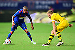 Manchester United winger Ashley Young (l) trying dribbling Borussia Dortmund defender Marcel Schmelzer (r) during the International Champions Cup China 2016, match between Manchester United vs Borussia  Dortmund on 22 July 2016 held at the Shanghai Stadium in Shanghai, China. Photo by Marcio Machado / Power Sport Images