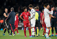 Serge Gnabry of Bayern Munich talks to Dele Alli of Spurs at full time during the UEFA Champions League group match between Tottenham Hotspur and Bayern Munich at Wembley Stadium, London, England on 1 October 2019. Photo by Andy Rowland.