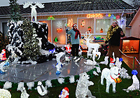 2017 11 21 Christmas house, Kilgetty, Wales, UK