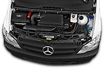Car Stock 2013 Mercedes Benz Vito 113CDi SWB Long 4 Door Cargo Van 2WD Engine high angle detail view