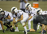 Torrance, CA 09/25/15 - Jess Caravello (El Segundo #52) and Jason Kehl (El Segundo #12) in action during the El Segundo - Torrance varsity football game at Zamperini Field of Torrance High School