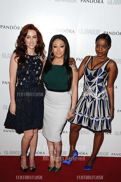 Siobhan Donaghy, Mutya Buena and Keisha Buchanan (MKS) arriving for the 013 Glamour Women of The Year Awards, Berkeley Square, London. 04/06/2013 Picture by: Steve Vas / Featureflash