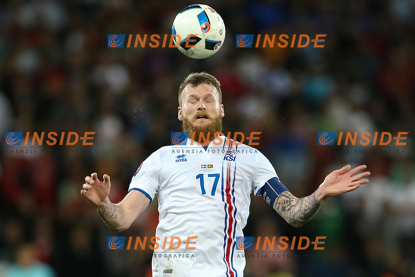 Aron Gunnarsson of Iceland  <br /> Saint-Etienne 14-06-2016 Stadium Geoffroy-Guichard Football Euro2016 Portugal-Iceland / Portogallo-Islanda Group Stage Group F<br /> Foto Daniel Chesterton / PHC / Panoramic / Insidefoto