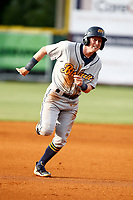 Montgomery Biscuits infielder Jake Cronenworth (3) hustles towards third base during the game against the Chattanooga Lookouts on May 25, 2018 at AT&T Field in Chattanooga, Tennessee. (Andy Mitchell/Four Seam Images)