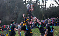 Saturday 17th February 2018   RBAI vs Sullivan<br /> <br /> Action during the Ulster Schools' Cup Quarterfinal between RBAI and Sullivan at Cranmore Park, Belfast, Northern Ireland. Photo by John Dickson / DICKSONDIGITAL