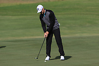 Calum Hill (SCO) on the 4th green during Round 3 of the Challenge Tour Grand Final 2019 at Club de Golf Alcanada, Port d'Alcúdia, Mallorca, Spain on Saturday 9th November 2019.<br /> Picture:  Thos Caffrey / Golffile<br /> <br /> All photo usage must carry mandatory copyright credit (© Golffile | Thos Caffrey)