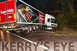 Truck  jack knifed near Mountcoal Cross on Tuesday morning