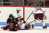 Hayley Scamurra (NU - 14), Erin Connolly (BC - 15), Ryan Little (BC - 20) - The Boston College Eagles defeated the Northeastern University Huskies 2-1 to win the Beanpot on Monday, February 7, 2017, at Matthews Arena in Boston, Massachusetts.