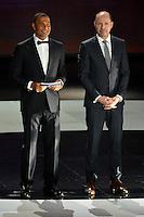 23.02.2013. Nice, France. UEFA Drawing fo the 2016 UEFA EURO Championships. Ruud Gullit, Vitor Baia