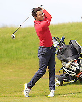 Gerard Dunne (Co. Louth) on the 6th during Round 1 of the Irish Amateur Close Championship at Seapoint Golf Club on Saturday 7th June 2014.<br /> Picture:  Thos Caffrey / www.golffile.ie