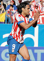 Atletico de Madrid's Radamel Falcao during La Liga match.April 14,2013. (ALTERPHOTOS/Acero)