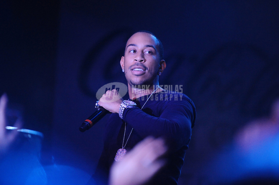Feb 4, 2012; Indianapolis, IN, USA; Recording artist Ludacris performs at The Maxim Party at Indiana State Fairgrounds. Mandatory Credit: Mark J. Rebilas-