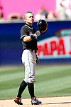 Ichiro Suzuki (Marlins), JUNE 15, 2016 - MLB : Miami Marlins' Ichiro Suzuki tips his helmet after hitting his double during the ninth inning of a Major League Baseball game between San Diego Padres and Miami Marlins at the Petco Park in Petco Park, California, United States. Ichiro Suzuki recorded his 4257th professional baseball hit. (Photo by AFLO)