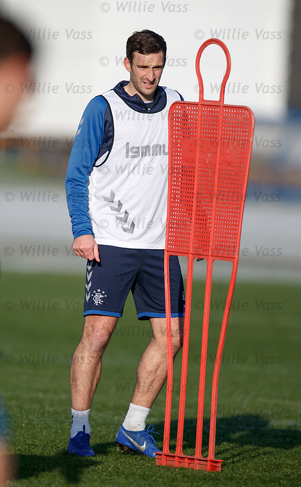 01.02.2019: Rangers training: Lee Wallace