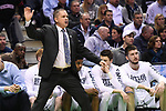 MILWAUKEE, WI - MARCH 18: Butler Bulldogs Head Coach Chris Holtmann motions to his team during the first half of the 2017 NCAA Men's Basketball Tournament held at BMO Harris Bradley Center on March 18, 2017 in Milwaukee, Wisconsin. (Photo by Jamie Schwaberow/NCAA Photos via Getty Images)