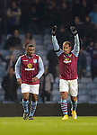 Gabriel Agbonlahor of Aston Villa celebrates his goal with Chvrles Nzogbia - Football - Barclays Premier League - Aston Villa vs Southampton - Villa Park Birmingham  - Season 2014/2015 - 24th November 2015 - Photo Malcolm Couzens /Sportimage