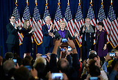 Democratic Presidential candidate Hillary Clinton delivers her concession speech Wednesday, from the New Yorker Hotel's Grand Ballroom in New York city , NY, on November 9, 2016.  <br /> Credit: Olivier Douliery / Pool via CNP