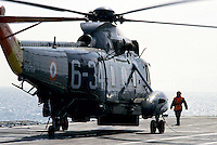 "The Italian aircraft carrier  ""G. Garibaldi""..Antisubmarine helicopters SH-3D"