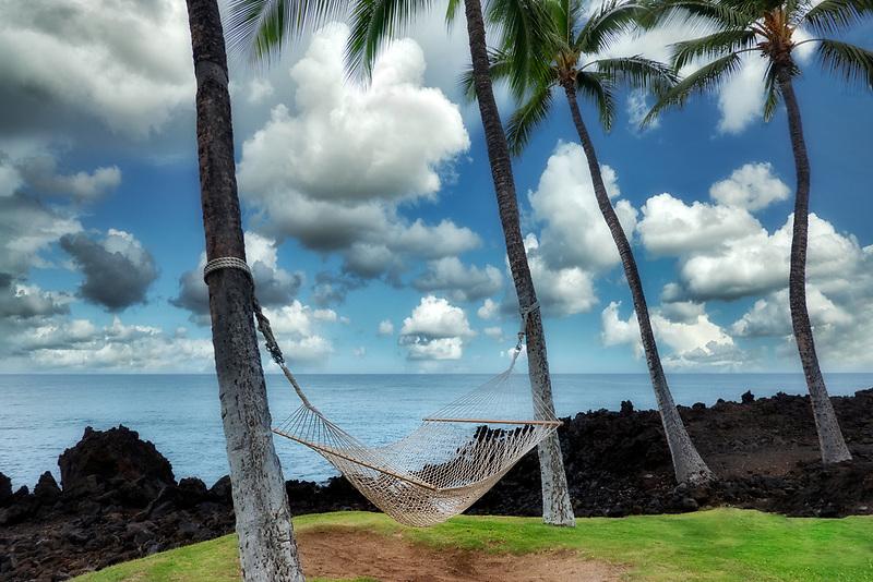 Hammock at the Hilton. Hawaii, The Big Island