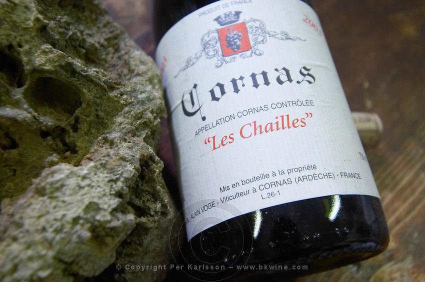 les chailles with chailles rock sample dom a voge cornas rhone france