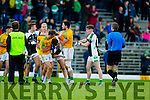 South Kerry and Legion players in a malee at the end of the Kerry County Senior Football Final at Fitzgerald Stadium on Sunday.
