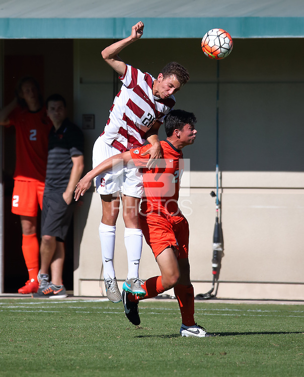 Stanford, CA; Sunday October 11, 2015; Men's Soccer, Stanford vs Oregon State.