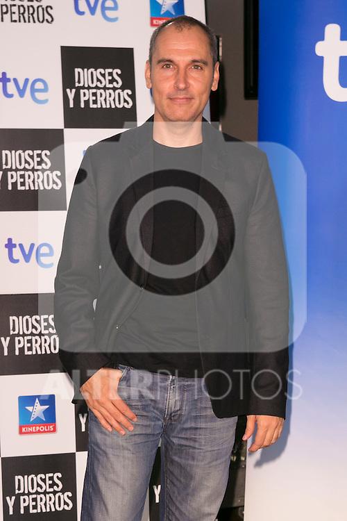 """The director David Marques attends the """"DIOSES Y PERROS """" Movie presentation at Kinepolis Cinema in Madrid, Spain. October 6, 2014. (ALTERPHOTOS/Carlos Dafonte)"""