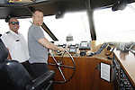 Sean Carrigan driving the boat -  Actors from Y&R, General Hospital and Days donated their time to Southwest Florida 16th Annual SOAPFEST at the Cruisin' and Schmoozin' Marco Island Princess in Marco Island, Florida on May 24, 2015 - a celebrity weekend May 22 thru May 25, 2015 benefitting the Arts for Kids and children with special needs and ITC - Island Theatre Co.  (Photos by Sue Coflin/Max Photos)