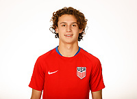 LAKEWOOD RANCH, FL : The U.S. U-19 Men's National Team headshots at Premiere Sports Complex in Lakewood Ranch, Fla., on January 4, 2018. (Photo by Casey Brooke Lawson)