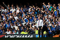 Burnley manager Sean Dyche reacts<br /> <br /> Photographer Craig Mercer/CameraSport<br /> <br /> The Premier League - Chelsea v Burnley - Saturday August 12th 2017 - Stamford Bridge - London<br /> <br /> World Copyright &copy; 2017 CameraSport. All rights reserved. 43 Linden Ave. Countesthorpe. Leicester. England. LE8 5PG - Tel: +44 (0) 116 277 4147 - admin@camerasport.com - www.camerasport.com