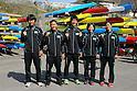 (L to R) Naoya Sakamoto, Momotaro Matsushita, Hiroki Watanabe, Shinobu Kitamoto, Asumi Omura (JPN), .MARCH 29, 2012 - Canoeing : .2012 International Canoeing Competitions Selection Trial & The 22th Fuchuko Canoe Regatta, at Lake Fuchu, Kagawa Japan. (Photo by Akihiro Sugimoto/AFLO SPORT) [1080]