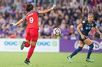 Orlando, FL - Saturday October 14, 2017: Nadia Nadim during the NWSL Championship match between the North Carolina Courage and the Portland Thorns FC at Orlando City Stadium.