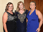Tracy Matthews, Deirdre Harmon and Geraldine Reilly pictured at the Drogheda Athletic Club annual dinner in the Westcourt Hotel. Photo:Colin Bell/pressphotos.ie