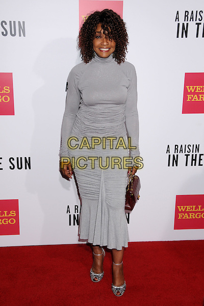 "BEVERLY TODD.""A Raisin In The Sun"" West Coast Screening at the Magic Johnson AMC Theatre, Los Angeles, California, USA,.11 February 2008..full length grey dress.CAP/ADM/BP.?Byron Purvis/Admedia/Capital Pictures"