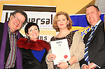 Adult Poetry winner Jean Wilson accepts her certificate..Picture: Shane Maguire / www.newsfile.ie.