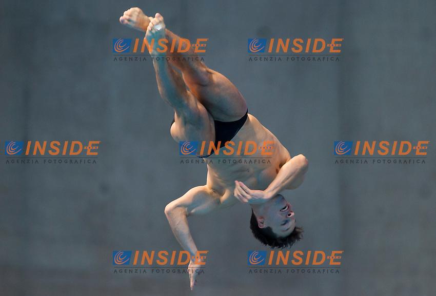 HAUSDING Patrick GER<br /> London, Queen Elizabeth II Olympic Park Pool <br /> LEN 2016 European Aquatics Elite Championships <br /> Diving<br /> Men's 3m springboard preliminary <br /> Day 04 12-05-2016<br /> Photo Giorgio Perottino/Deepbluemedia/Insidefoto