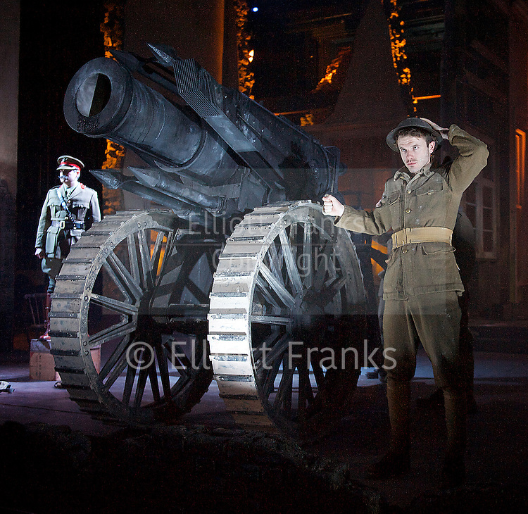 The Silver Tassie <br /> by Sean O'Casey <br /> directed by Howard Davies<br /> designed by Vicki Mortimer <br /> at The Lyttelton Theatre, NT, Southbank, London, United Kingdom<br /> <br /> press photocall<br /> 22nd April 2014 <br /> <br /> Ronan Raftery as Harry Heegan <br /> <br /> Deidre Mullins as Jessie Taite<br /> <br /> Judith Roddy as Susie Monican <br /> <br /> Josie Walker as Mrs Heegan <br /> <br /> Adam Best as Barney Bagnal<br /> <br /> Jim Creighton as Forby Maxwell<br /> <br /> Andrew Westfield as The Corporal