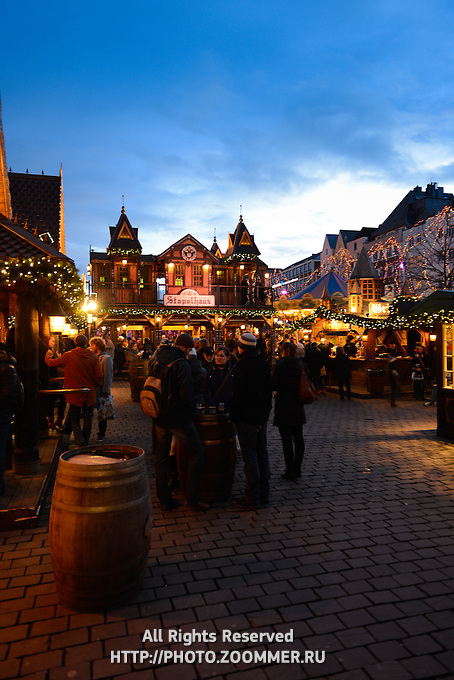 Christmas Market And Fun Fair In Cologne, Germany