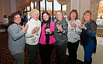 WATERBURY,  CT-032317JS15 --Tina Ericson of Woloctt; Joan Valletta of Naugatuck; Michelle Szmajlo of Watertown; Pat Foran of Watertown; Sally Foran of Waterbury and Dorothy Reardon of Wolcott at the 10th annual &quot;Wishes from Waterbury&quot; Wine and Beer Tasting fundraiser at LaBella Vista in Waterbury. The fundraiser benefits the Make-A-Wish Foundation of Connecticut.  <br /> Jim Shannon Republican-American