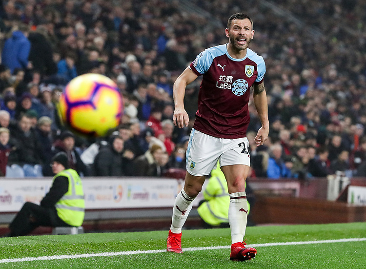 Burnley's Phillip Bardsley <br /> <br /> Photographer Andrew Kearns/CameraSport<br /> <br /> The Premier League - Burnley v Liverpool - Wednesday 5th December 2018 - Turf Moor - Burnley<br /> <br /> World Copyright &copy; 2018 CameraSport. All rights reserved. 43 Linden Ave. Countesthorpe. Leicester. England. LE8 5PG - Tel: +44 (0) 116 277 4147 - admin@camerasport.com - www.camerasport.com