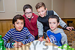 Alex Shinohara, Jonathan O'riordan, Killian Buckley and Micheal O'Shea from Scoil Muire Killorglin at the Credit Union Primary schools  Table Quiz in Brandon Hotel on Sunday