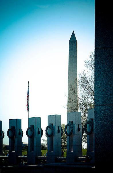 World War 2 Memorial Washington Monument Washington DC Architecture