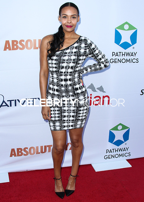 SANTA MONICA, CA, USA - JUNE 11: Samantha Mumba at the Pathway To The Cures For Breast Cancer: A Fundraiser Benefiting Susan G. Komen held at the Barker Hangar on June 11, 2014 in Santa Monica, California, United States. (Photo by Xavier Collin/Celebrity Monitor)