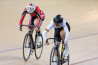 Sami Donnelly (L) of Canterbury and Eva Parkinson of Waikato BOP compete in the U17 Girls Sprint final at the Age Group Track National Championships, Avantidrome, Home of Cycling, Cambridge, New Zealand, Saturday, March 18, 2017. Mandatory Credit: © Dianne Manson/CyclingNZ  **NO ARCHIVING**