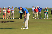 Christo Lamprecht (RSA) on the 18th green during Round 4 of the East of Ireland Amateur Open Championship 2018 at Co. Louth Golf Club, Baltray, Co. Louth on Monday 4th June 2018.<br /> Picture:  Thos Caffrey / Golffile<br /> <br /> All photo usage must carry mandatory copyright credit (&copy; Golffile | Thos Caffrey)